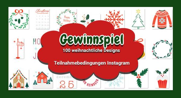 Instagram Teilnahmebedingungen - tolle Weihnachtsdesigns