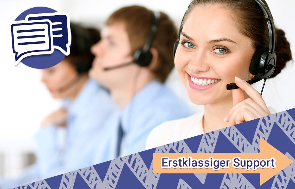 Wir bieten unseren Kunden erstklassigen Support! Kontaktieren Sie uns bei Fragen.