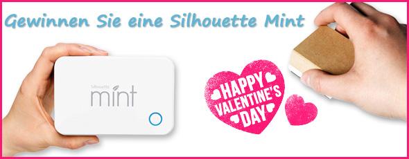 Teilnahmebedingungen Gewinnspiel Valentinstag Silhouette Mint