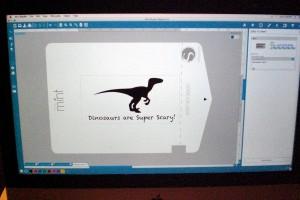 Entwurf eines Dino-Stempl in mint Studio
