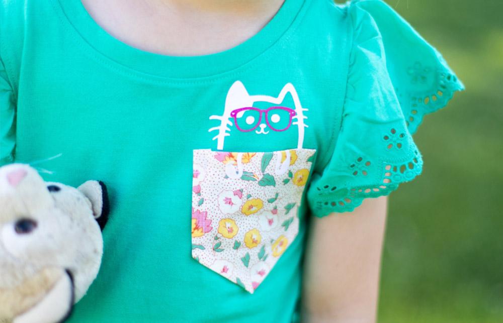 Mit der SILHOUETTE CAMEO PLUS können Sie auch kleine Motive einfach auf Ihre Textilien bringen.