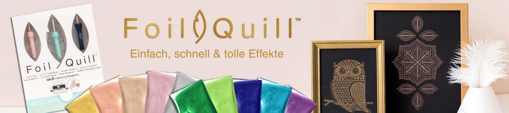 Tolle Folieneffekte mit Foil Quill. Entdecken Sie die Foil Quill Produkte und was alles möglich ist,