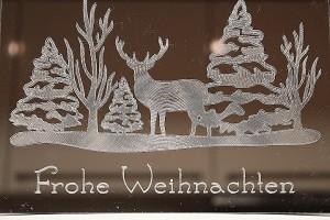 Ein Winterbild mit der Silhouette Curio gravieren