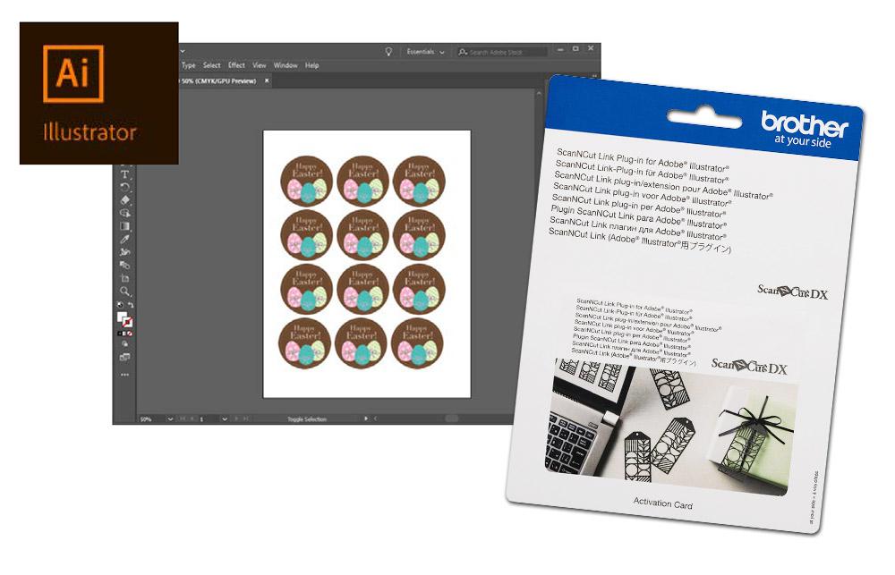 Senden Sie Ihre Daten direkt aus Adobe Illustrator oder CorelDRAW an Ihren Brother Plotter.