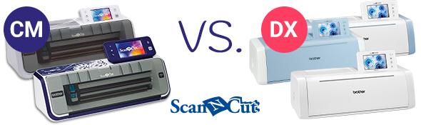 Wir vergleichen die Brother ScanNCut CM-Serie mit der DX-Serie.