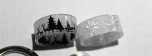 Schrumpfplastik - Fertige Ringe