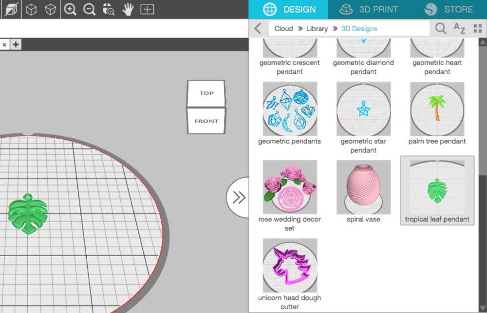 Sie können Ihre Designs auf Ihrer Festplatte oder in Ihrer Silhouette 3D Bibliothek absichern.