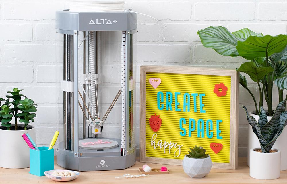Mit dem Silhouette Alta Plus haben Sie die Möglichkeit besonders einfach und schnell in den 3D Druck durchzustarten.