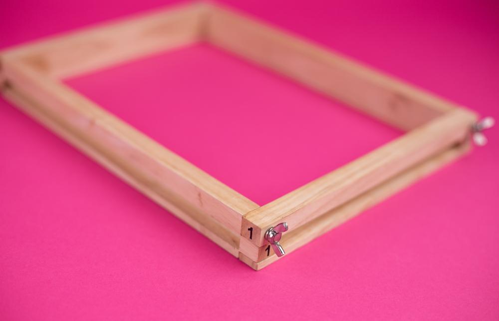 Achten Sie auf die Nummerierung an den Ecken Ihres Rahmens.