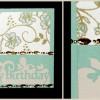 Glückwunschkarte aus Silhouette Studio Vorlagen