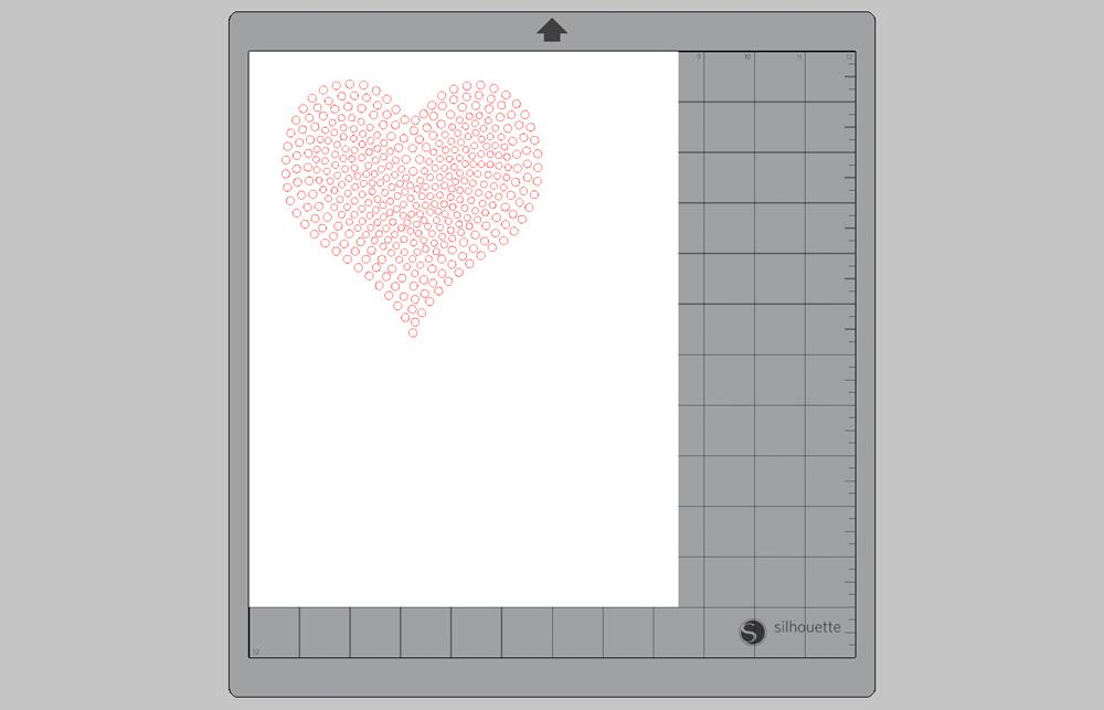 Erstellen Sie Ihr Design im Silhouette Studio.