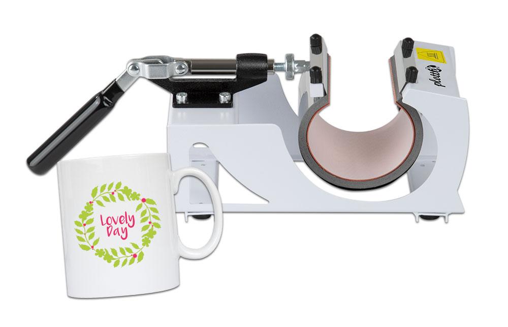 Kompakt, günstig und super einfach. So schnell können Sie Ihre Tassen hochwertig veredeln.