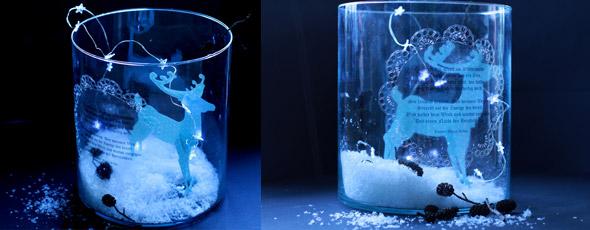 Weihnachtliche Glas Dekoration Erstellen Mit Der Silhouette
