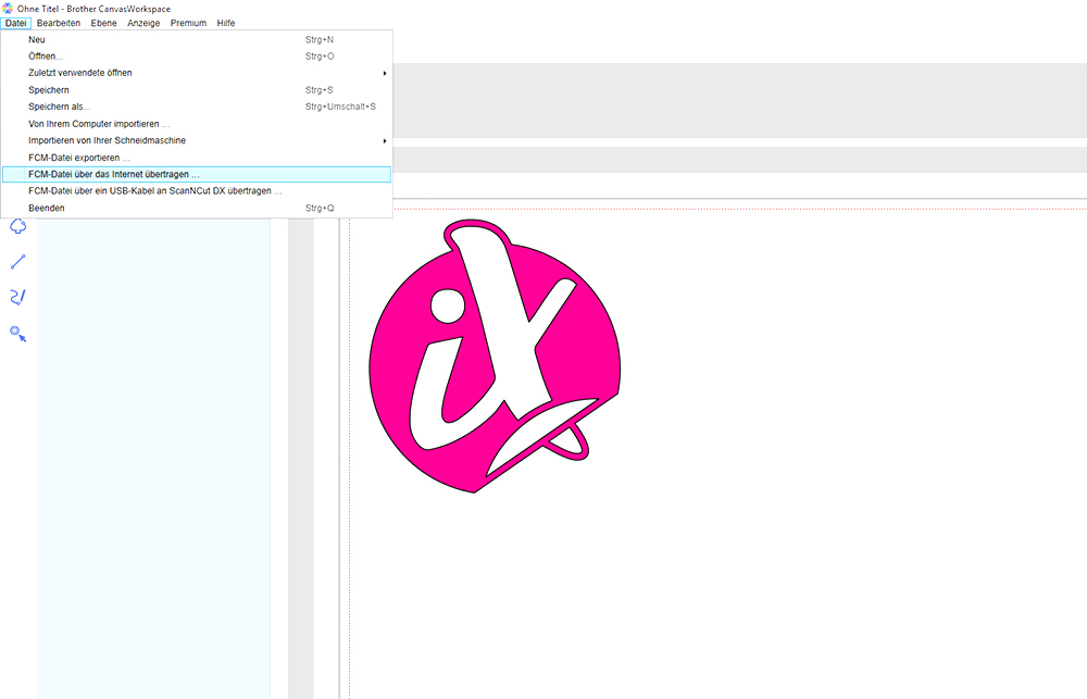 Ihr Motive oder Schriftzug können Sie in der zu Ihrem Hobbyplotter gehörigen Software erstellen.