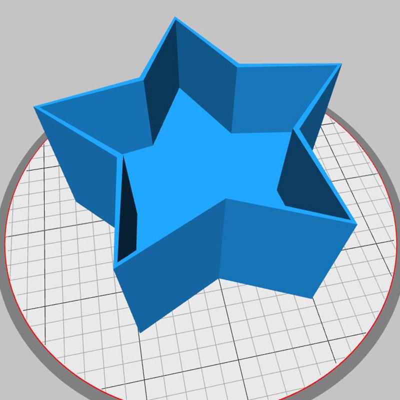 Wachs Form selber ausdrucken und individualisieren.