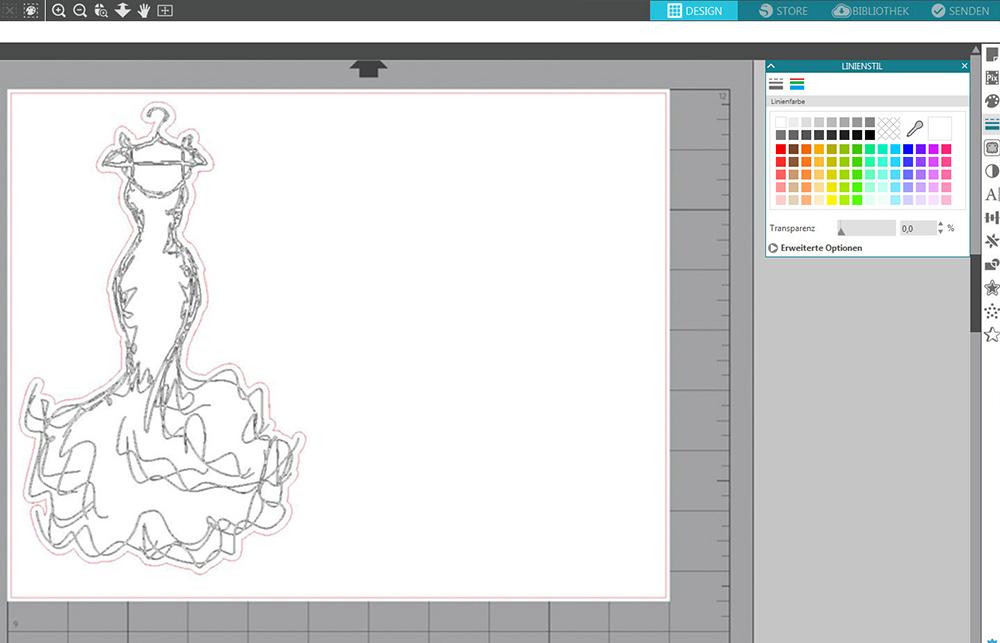 Die Outlines können Sie nach belieben einfärben. Die Farben benötigen Sie später beim Zuordnen der Aktionen.